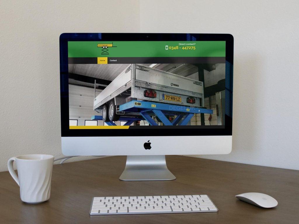 Nieuwe website voor Aanhangwagen Service Woerden
