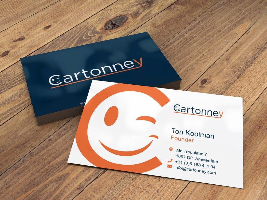 Visitekaartjes voor Cartonney Box